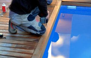 Luxus für zuhause: ein eingelassener Pool